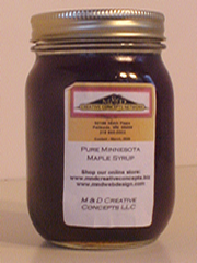 M & D Creative Concepts LLC Pure Minnesota Maple Syrup